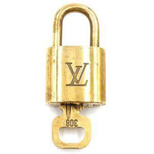 Louis Vuitton Gold Keepall Speedy Lock Key Set#308